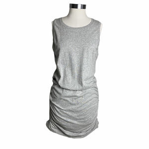 Cabi Everyday Ruched Side Dress Heather Grey S